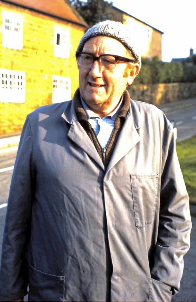 Arthur Vines, the village milkman in the 1980s